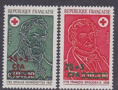 Réunion N° 412 / 13 XX Au Profit De La Croix Rouge : Les 2 Valeurs Surchargées CFA, Sans Charnière,  TB - Neufs