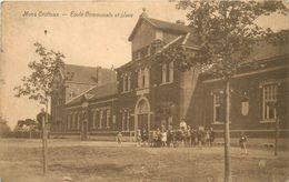 BELGIQUE MOS CROTTEUX  école Communale Et Place   2 Scans - Grâce-Hollogne