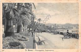 Cartolina  San Remo Passeggiata Imperatrice Animata 1947 - Imperia