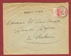 Rhode St Genèse   Langstempel Griffe Op Brief 1913 - Postmark Collection
