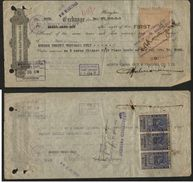 Bank Of China 1947 Bill Of Exchange With India KG VI 6Rx3 Foreign Bill Revenues  # 96598 - Wissels
