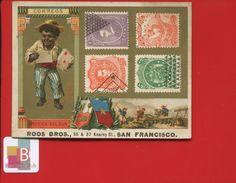 États-Unis San Francisco ROOS BRO'S Jolie Chromo Dorée Poste En Amérique Du Sud Timbres Chercheurs D'or - Other
