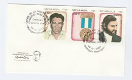 1987 NICARAGUA FDC Stamps MEDAL ORDER OF INDEPENDENCE Cover - Nicaragua