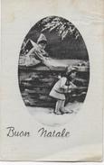 BUON NATALE - CARTOLINA B/N ANNI '30 - VIAGGIATA 1941 FRANCOBOLLO ASPORTATO - Natale