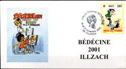 """Enveloppe Illustrée """"Bédéciné 2001 ILLZACH - Les 10 Et 11 Novembre - Bandes Dessinées"""