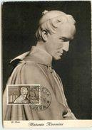 ITALIE CARTE MAXIMUM TUNIS ANTONIO ROSMINI 1955 - Cartes-Maximum (CM)