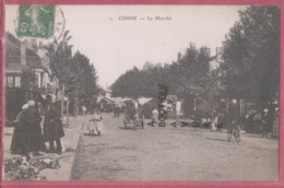 58 - COSNE---Le Marché---animé--pas Courante - Cosne Cours Sur Loire