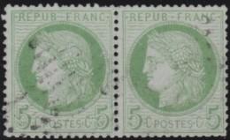 France   .    Yvert  .      53  Pair       .      O   .     Oblitéré - 1871-1875 Cérès