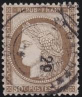 France   .    Yvert  .      56         .      O   .     Oblitéré - 1871-1875 Cérès