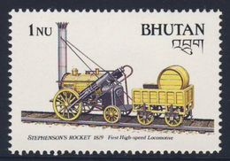 "Bhutan 1988 Mi 1061 ** Stephenson's Railway Locomotive ""Rocket"", 1829 / Lokomotive, Robert Stephenson - Bhutan"