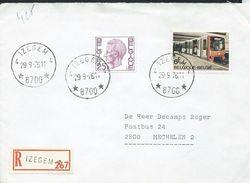 Doc. De   IZEGEM 4  ( 8700)  Le 29/09/1976  En Rec. De Izegem 1 - Cachets à étoiles