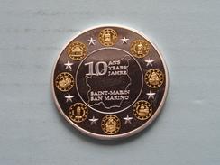 10 Ans / Years / Jahre EURO * SAN MARINO - SAINT-MARIN ( Bi 25.9 Gr. ) ( Details Zie Foto ) ! - Jetons & Médailles