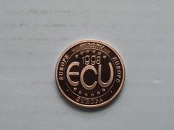 1998 ECU Europe ( 11.8 Gr. ) ( Details Zie Foto ) ! - Pièces écrasées (Elongated Coins)