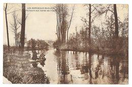 Cpa: 27 LES BORDEAUX SAINT CLAIR (ar. Les Andelys) Pêcheurs Aux Bords De L'Epte  1933 - France