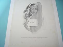 ANCIENNE PUBLICITE  KESTO  SOUTIEN GORGE  1949 - Vintage Clothes & Linen
