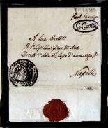 Teramo-00786 - Piego Di Servizio, Senza Testo, Da G. Ciotti (Com.rio Di Guerra) - Molto Raro Per Le Bollature Impresse! - 1. ...-1850 Prefilatelia