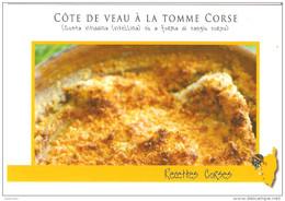 CPM RECETTE DE CUISINE CORSE COTE DE VEAU A LA TOMME CORSE COSTA VITELLINA CASGIU CORSU - Unclassified