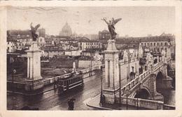 ROMA - PONTE VITTORIO EMANUELE, TRAMWAY 1932 - Ponts