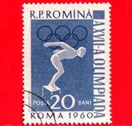 Nuovo Oblit. - ROMANIA - 1961 - Olimpiadi Estive, Roma - Nuoto - Medaglie D'oro Romene - 20 - 1948-.... Republics