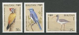 BOUTHAN 1989 N° 866/868 ** Neufs MNH  TTB Cote 7,50 € Faune Oiseaux Monarcha Birds Animaux - Bhutan