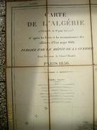 France: Carte De L'Algérie 1/400.000 Publiée Par Le Dépôt De La Guerre, Paris 1856 - Carte Geographique