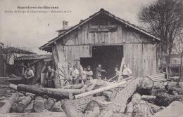 33) SAUVETERRE DE GUYENNE (GIRONDE)  ATELIER DE CHARRONAGE ET FORGE DELAUNAY - (TRES ANIMEE - 2 SCANS) - France