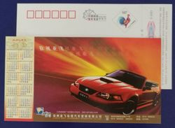 BMW Deluxe Convertible Car,China 2005 Xuzhou Automobile Marketing Company Advertising Pre-stamped Card - Voitures