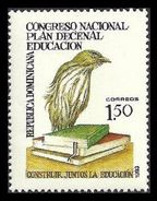 DOMINICAN REPUBLIC 1993 TEN YEAR EDUCATION PLAN BOOKS BIRDS PALM CHAT SET MNH - Dominican Republic