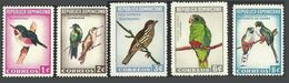 DOMINICAN REPUBLIC 1964 BIRDS WOODPECKER TROGON PARROT CHAT TODY SET MNH - Dominican Republic