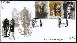 Kosovo 2016 / Kunst Art / Rexhep Perri / Skulpturen Malerei Grafik / Painting / FDC - Kosovo