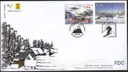 Kosovo 2016 / Mountain Tourism Skiing / Joint Issue Kosovo & Macedonia / FDC - Kosovo