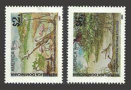 DOMINICAN REPUBLIC 1995 AMERICA UPAEP OMNIBUS POLLUTION BIRDS FLAMINGO SET MNH - Dominican Republic