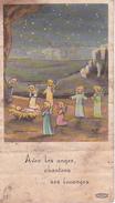 Andachtsbild - Image Pieuse - Avec Ses Anges... - Communion Privée - 1965 - 6*10cm (29444) - Andachtsbilder