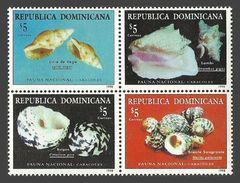 DOMINICAN REPUBLIC 1998 SHELLS MARINE LIFE CONCH LYRIA SET MNH - Dominican Republic