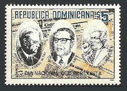 DOMINICAN REPUBLIC 1996 NATIONAL JOURNALISTS DAY NEWSPAPER EDITORS SET MNH - Dominican Republic