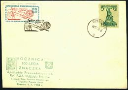 Poland 1960 Cancellation - 100 Years Of Polish Stamp / Label International Letter Writing Week - PZF Rzeszow - Rzeszow 1 - 1944-.... République