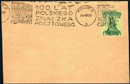 Poland 1960 Cancellation - 100 Years Of Polish Stamp 1860-1960 - Kielce 2 - 1944-.... République