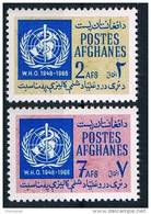 Afghanistan, 1968, 20 Years Of WHO, UN, 769-70, MNH - Afghanistan