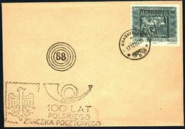 Poland 1960 Cancellation - 100 Years Of Polish Stamp 1860-1960 - Krasnystaw - 1944-.... République