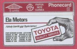 PAPOUASIE NOUVELLE GUINEE--PAPUA NEW GUINEA --5 Units Carte Publicitaire Toyota - Papouasie-Nouvelle-Guinée