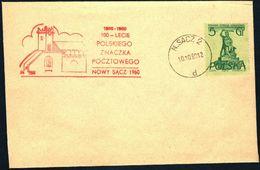 Poland 1960 Cancellation - 100 Years Of Polish Stamp 1860-1960 - N.Sacz 2 - 1944-.... Republic