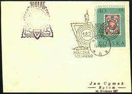 Poland 1960 Cancellation - 100 Years Of Polish Stamp 1860-1960 - Lodz 1 - 1944-.... Republic
