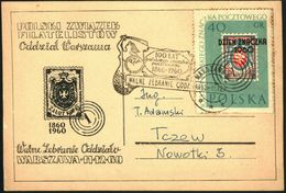 Poland 1960 Postcard Cancellation - 100 Years Of Polish Stamp 1860-1960 - PZF Warszawa - 1944-.... Republic