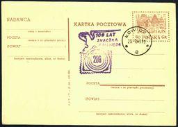 Poland 1960 Postcard Cancellation - 100 Years Of Polish Stamp - Lowicz - 1944-.... Republic