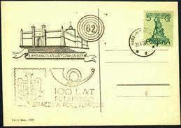 Poland 1960 Postcard Cancellation - 100 Years Of Polish Stamp - Radzyn Podlaski - 1944-.... Republic