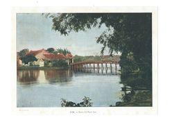 Indochine Hanoï Le Petit Lac 1900's  Photo Aquarellée Grav.Imp.par Gillot 17 X 23 Cm Dos Blanc TB - Vecchi Documenti