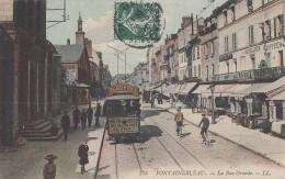 Chemins De Fer - Tramway - LL Colorisée - Rue Grande - Fontainebleau - 1910 - Tramways