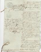375/25 - Document Sur Papiers Fiscaux An 12 - Demande Au Tribunal De MALINES - TB Cachet De La Mairie De LIERRE - 1794-1814 (Période Française)