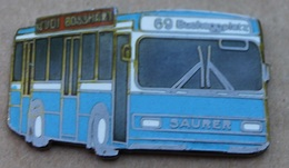 BUS N°69 BUCHEGGPLATZ - BLEU ET BLANC -  DE LA VILLE DE ZURICH - SCHWEIZ - SUISSE - SAURER - RUDI BOSSHART -     (JAUNE) - Trasporti