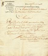 377/25 - Document Imprimé Le Sous-Préfet De L' Arrondissement De MALINES - An 13 Vers Président Du Tribunal 1è Instance - 1794-1814 (Période Française)